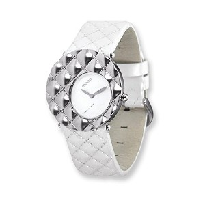 Moog Fascinationホワイトダイヤル/ホワイトQuilted Patent Strap Watch