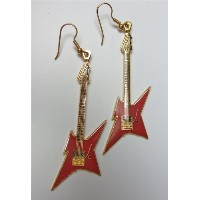 B.C. リッチ アイアンバード ピアス 赤 EARRINGS BC RICH IRONBIRD GOLD AND RED 556