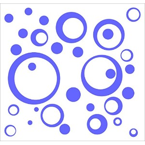Wall Decor Plus More WDPM162 Wall Vinyl Sticker Decal Circles and Rings, Purple, 25-Piece by Wall...