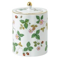 Wedgwood Wild Strawberry Tea Caddy, Green by Wedgwood