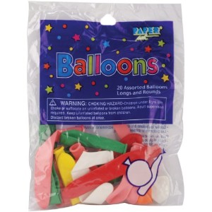 Balloon Long & Round Assortment 20/Pkg-Assorted Colors (並行輸入品)
