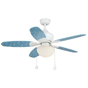 Vaxcel F0037 Alex Ceiling Fan, 44, White Finish by Vaxcel