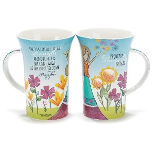 She is Clothed with Strength and Dignity Proverbs 31 Woman 14 oz. Ceramic Stoneware Mug by Dicksons...
