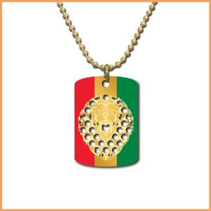 Roaring Rasta Lion Dog Tag- V Syndicate Grinder Cards by V. Syndicate