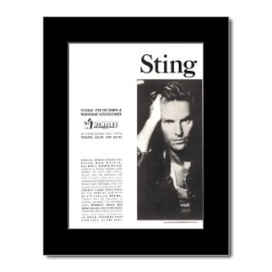 STING - Wembley Arena 1987 Mini Poster - 28.5x21cm
