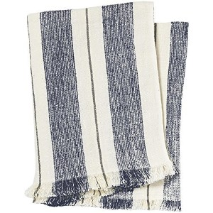 Pehr Designs Corsica Stripe Throw, Navy/Stone by Pehr Designs [並行輸入品]