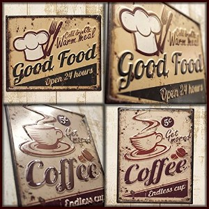 ★【Antique Emboss Plate】 レトロ調 ★ レクト エンボスプレート S★ Cafe&Food★メール便OK Food