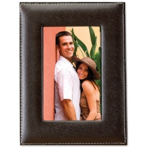 Lawrence Frames Black Leather 4 by 6 Picture Frame by Lawrence Frames [並行輸入品]