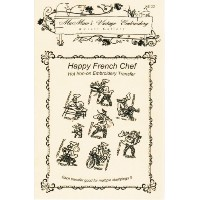 Happy French Chef Days-of-the-week Tea Towels Hot Iron Embroidery Transfers by Mamaw's Vintage...