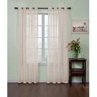 Arm and Hammer Curtain Fresh Odor Neutralizing Sheer Curtain Panel, 95 Inches, Ivory by Curtain...
