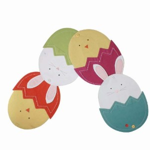 Easter Bunny & Chick 56テーブルランナーをタグFurnishings