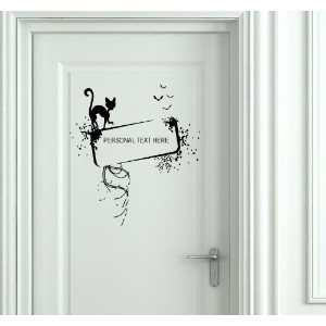 Wall Mural Vinyl Sticker Decal Door Personal Name Text Here Al283 by VSGraphics LLC