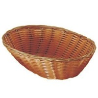 Set of 4 Update International BB-97 Woven and Bread Natural Color Basket, Oval, 9-1/2-Inch by...