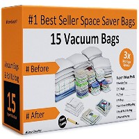 Home-Complete Space Saver Bags Storage Bundle (15 Items) by Home-Complete