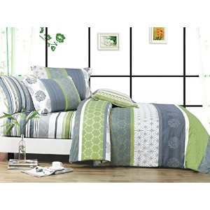 Serene 3pc 100% Cotton Duvet Cover Set : Duvet Cover and Two Matching Shams (King) by Swanson...
