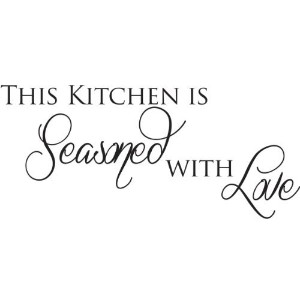 This kitchen is Seasoned with Love wall quote wall decals wall decal wall sticker by WallDecalQuote