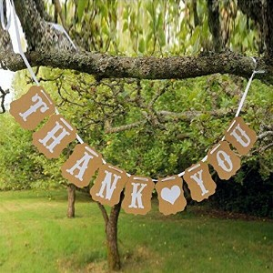 THANK YOU Vintage Wedding Bunting Banner Photo Booth Props Garland Bridal Show Wedding Decoration ...