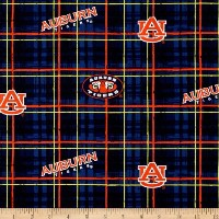 Collegiate Cotton Broadcloth Auburn Fabric by Sykel Enterprises