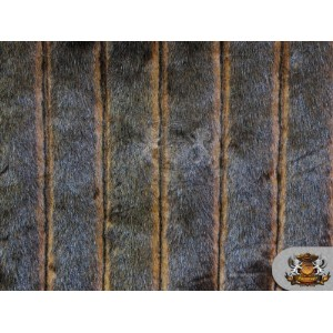 Faux Fur Long Pile DELUXE BEAVER Stripes Fabric / 1 YARD by FABRIC EMPIRE