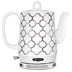 BELLA 1.2L Electric Ceramic Tea Kettle with detachable base and boil dry protection by BELLA