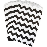 Outside the Box Papers Black and White Chevron Treat Sacks 5.5 x 7.5 Black, White by Outside the...