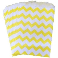 Outside the Box Papers Yellow and White Chevron Treat Sacks 5.5 x 7.5 Yellow, White by Outside the...