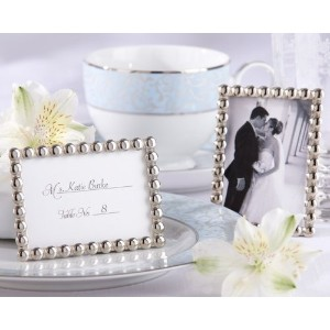 ''Silver Pearls'' Mini Photo Frame [Set of 96] by Kate Aspen [並行輸入品]