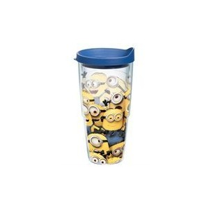 Tervis 1187004ミニオンズマスTumbler with Travel Lid、24オンス、クリアby Tervis