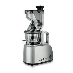 NutriChef PKSJ40 Countertop Masticating Slow Juicer Juice and Drink Maker, Stainless Steel [並行輸入品]