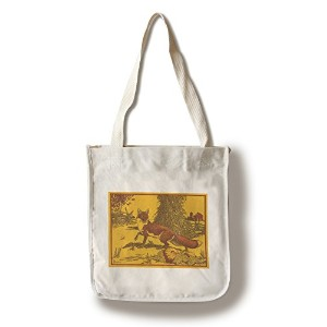 Nature Magazine–View of a Red Fox In A Pumpkinパッチ Canvas Tote Bag LANT-30072-TT