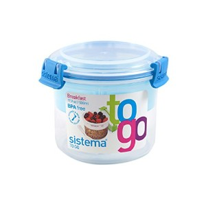 Sistema 17.9-Oz Breakfast To Go Container, Colors Vary, 1-Pack by Sistema