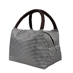 Lunch Bags,Decaral Canvas Convenient Lunch Box Zipper Bag Multi-function Lunch Bag Handbag (Design ...
