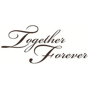Wall D?cor Plus More WDPM1218 Together Forever Wall Vinyl Sticker Decal, 23-Inch W x 10-Inch H,...