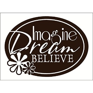 Wall Decor Plus More WDPM2687 Imagine Dream Believe Wall Sticker, 23-Inch x 18-Inch, Chocolate...