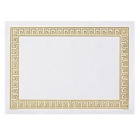 Hoffmaster 310640 Placemat, Greek Key Straight Edge, Square Corner, 10' x 14', Gold (Pack of 1000) ...