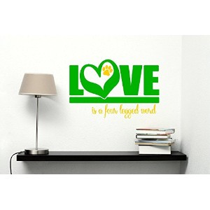Wall Decor Plus More WDPM3225 Love is A Four-legged Word Vinyl Pet Wall Decal Sticker, 23-Inch x 15...