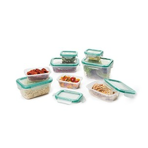 OXO Good GripsスナップLeakproof Foodストレージコンテナセット 16-Piece クリア 11179700