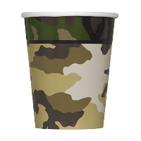 9oz Military Camo Party Cups, 8ct