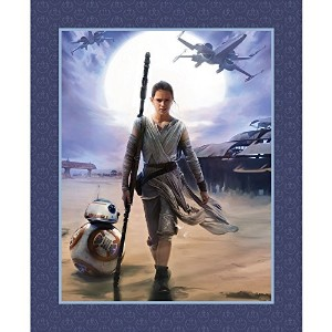 Star Wars the Force Awakens Cotton Print Panel 35.5 X 43 Inches Rey by Disney