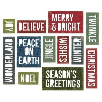 Sizzix Thinlits Dies 17/Pkg By Tim Holtz-Block Holiday Words (並行輸入品)
