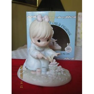 "Precious Moments ""God Bless You for Touching My Life"" Figurine by Enesco [並行輸入品]"