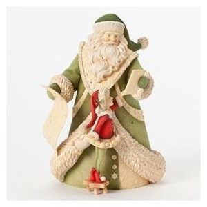 Enesco Heart of Christmas Gift Santa with Tablet and Elf Figurine, 8.78-Inch by Enesco [並行輸入品]