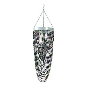 ZAPPOBZ HLLSW4 Twisted Beaded Chandelier, Black by ZAPPOBZ