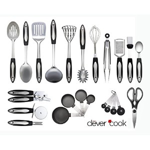 Clever Cook 23Pieceステンレススチール台所用品のセット