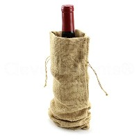 - CleverDelights 14 Burlap Wine Bags with Drawstring - 100% Natural Jute Burlap - 14 x 5 by...