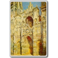 Monet Claude [1894] Rouen Cathedral classic art fridge magnet - ?????????