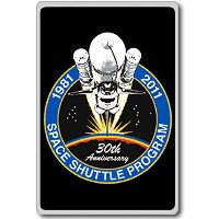 Space Shuttle 30th Anniversary - Miscellaneous Space Shuttle Patches Insignia fridge magnet -...