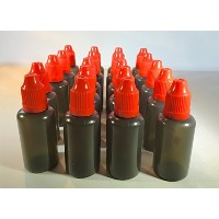 U-Need-A-Bottle (20) Pack Plastic Applicator Bottles LOT - 30 ml (1 oz) Black, BPA FREE - LDPE PE -...