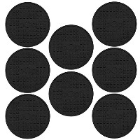 Set of 8 -Silicone Drink Coasters, Deep Tray, Good Grip, Large, 4 Inches Diameter, Bonus: E-Book...