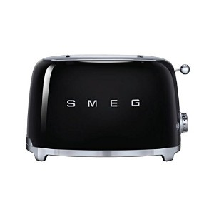 Smeg TSF01BLUS 50's Retro Style Aesthetic 2 Slice Toaster, Black by Smeg
